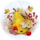 Virma decal 1312 - Apple, Pears, Grapes, Peach