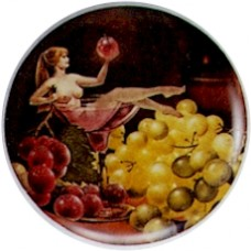Virma 1738 Size A Vintage Nudes and Fruit Decal