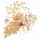 Virma decal 1128-Peacocks in Gold Too