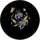Virma decal 1132 - Flowers and Butterflies, Gold.