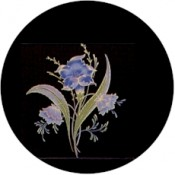 Virma decal 1136-Gold and Blue Flower