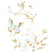 Virma decal 1342-Flowers and Butterflies, Gold