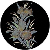 Virma decal 1648 - Flowers Pink/Gold