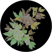 Virma decal 1650- Flowers, Pink/ Yellow, Gold
