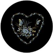 Virma decal 1676 - Heart with Flowers and Butterflies, Gold