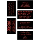 Virma decal 0001 - Assorted sarcastic sayings