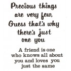 Virma decal 0013 - A Friend and Precious Things sayings