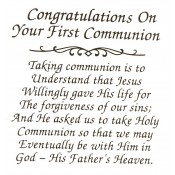 Virma decal 0046 - Mug Wrap Sayings-Congrats on first communion