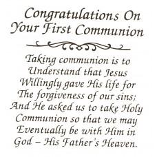 Virma 046 Mug Wrap Sayings-Congrats on first communion Decal