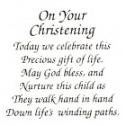 Virma decal 0049- Mug Wrap Sayings-On Your Christening