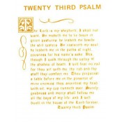Virma decal 0098B - Mug Wrap Sayings - 23rd Psalm (gold)