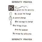 Virma decal 0100A-mug wrap sayings-Serenity Prayer-BLACK