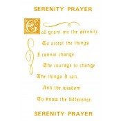 Virma decal 0100B-mug wrap sayings-Serenity Prayer-GOLD