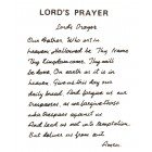 Virma decal 0101A - Mug Wrap Sayings - Lord's Prayer