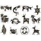 Virma decal 0184-mug wrap sayings-Cool aztec/mayan graphic pictures 2
