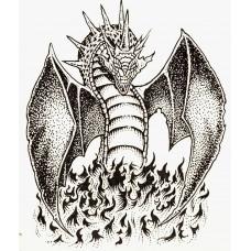 Virma 185 Dragon In Black Decal