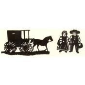 Virma decal 0222-mug wrap sayings-Amish wagon and couple