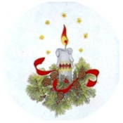 Virma decal 1260-Christmas Candle 2