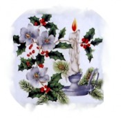 Virma decal 1262- Christmas Candle 3