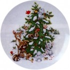 Virma decal 1266-Animals around Chirstmas Tree