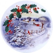 Virma decal 1386-Christmas Sleigh Ride Scene