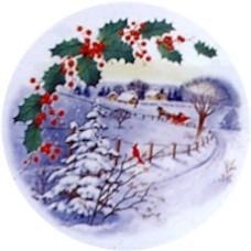 Virma 1386 Christmas Sleigh Ride Scene Decal