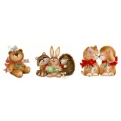 Virma decal 1388-Cute Christmas Animals, B & A1
