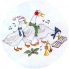 Virma decal 1446-Musical Christmas Ducks