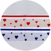 Virma decal 1496-Red/Blue Hearts mug wrap