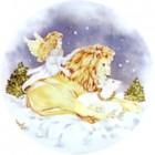 Virma decal 1568- Christmas Polor Bear/Lion and Angel