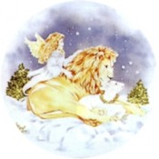 Virma decal 1568- Christmas Polar Bear/Lion and Angel
