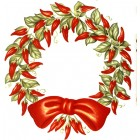 Virma decal 3106-Red Chili Peppers Christmas Wreath