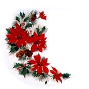 Virma decal 1394- Christmas Poinsettias & Holly