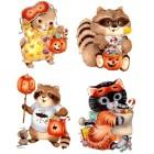 Virma decal 2252-Halloween, cute animals