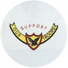Virma decal 1900- Support our troops logo