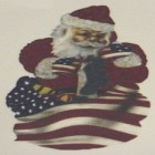 Virma decal AM04-Santa with American Flag