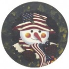 Virma decal AM06-Patriotic Snowman