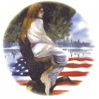 Virma decal AM08-Girl in Tree, Flag on the Water.