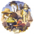 Virma decal 3192 - Cowboy Cats