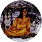 Virma decal 1752- American Indian Woman and Wolf