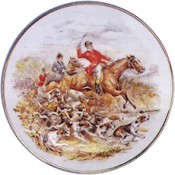 Virma decal 2262-Hunting horses/dogs (3 inch)