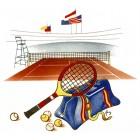 Virma decal 2390 - Tennis Design