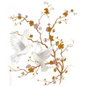 Virma decal 1150-Flying Doves, Gold