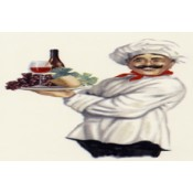 Virma decal 3476-Chef and Wine, profile.