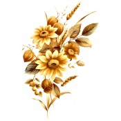 Zembillas decal 0988 - Brown Daisies