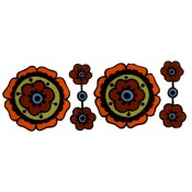 Zembillas decal 0994 - 60's Flower Design