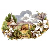 Zembillas decal 0913 - Quebec Canada Design, Town and Flower