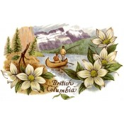 Zembillas decal 0914 - Birtish Colombia Canada Design, Lake and Flower