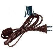 6' brown clip cord with switch