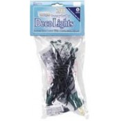 String of 20 Ornamental Light Bulbs, Clear, 7.5 ft